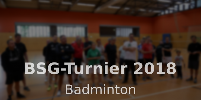 BSG-Turnier 2018
