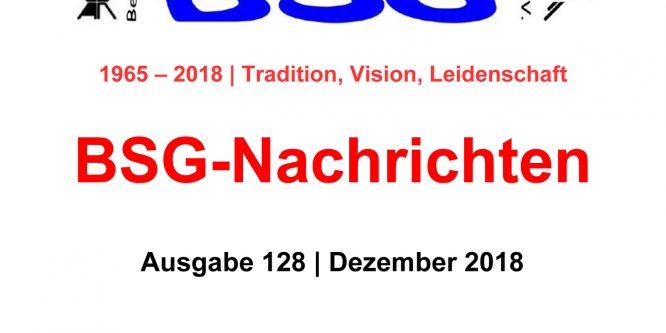 BSG-Nachrichten #128 stehen zum Download bereit