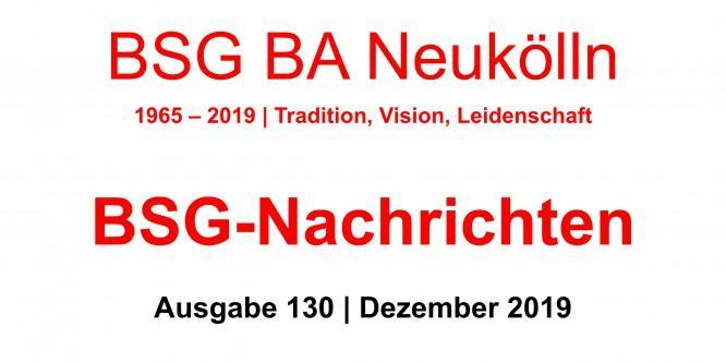 BSG-Nachrichten #130 stehen zum Download bereit