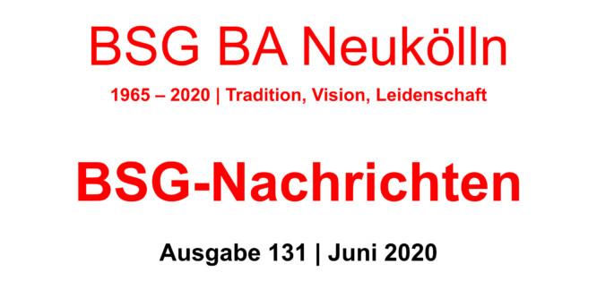 BSG-Nachrichten #131 stehen zum Download bereit